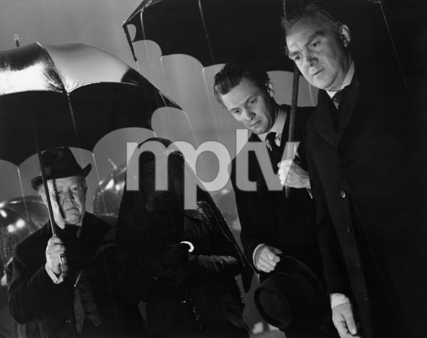 """Guy Kibbee, Beulah Bondi, William Holden and Thomas Mitchell in """"Our Town"""" 1940 United Artists ** I.V. - Image 24287_0277"""