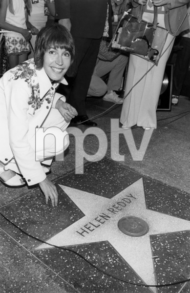 Helen Reddy during a Hollywood Walk of Fame ceremony July 23, 1974** B.D.M.  - Image 24293_0197 | Most iconic images of the 20th century | MPTV Images