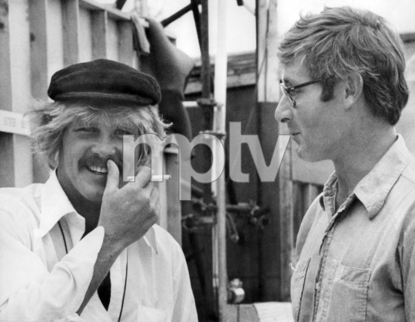 """Nick Nolte and Peter Benchley on the set of """"The Deep""""1977 Columbia** B.D.M. - Image 24293_0344"""