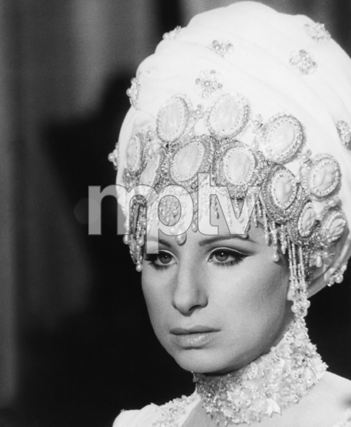 """Barbra Streisand on the set of """"On a Clear Day You Can See Forever"""" wearing costume designed by Cecil Beaton1970 Paramount** B.D.M. - Image 24293_0398"""