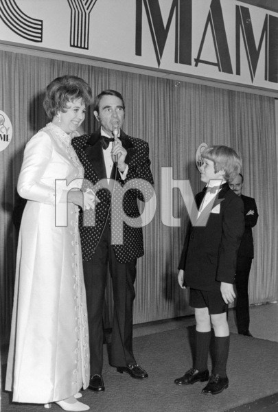 """Jane Withers, Army Archerd and Kirby Furlong as the Hollywood Premiere of """"Mame"""" at the Cinerama DomeMarch 1974** B.D.M. - Image 24293_0538"""