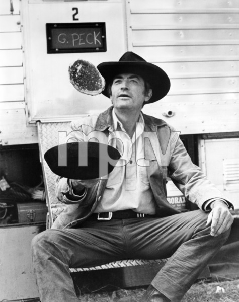 """Gregory Peck on the set of """"Shoot Out""""1971 Universal** B.D.M. - Image 24293_0642"""