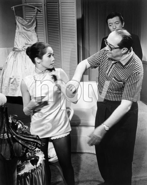 """Nancy Kwan, Henry Koster and James Shigeta on the set of """"Flower Drum Song""""1961 Universal** B.D.M. - Image 24293_0705"""