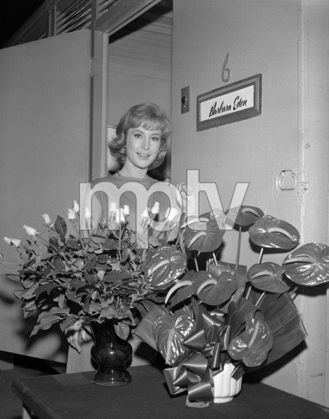 "Barbara Eden outside of her dressing room on the set of ""The Brass Bottle""1964 Universal** B.D.M. - Image 24293_0843"