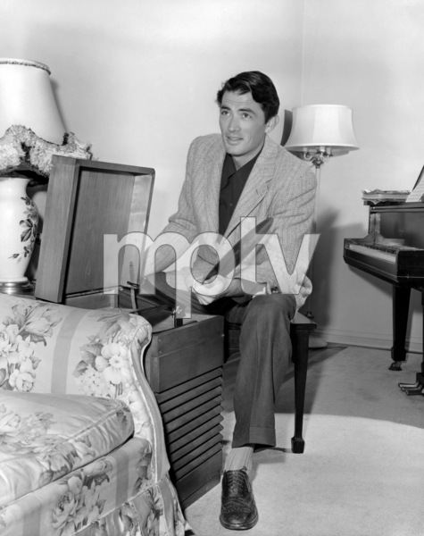 Gregory Peck at homecirca 1945** B.D.M. - Image 24293_0874