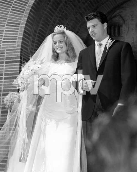 Kristin Harmon and Rick Nelson on their wedding day1963** B.D.M. - Image 24293_0974