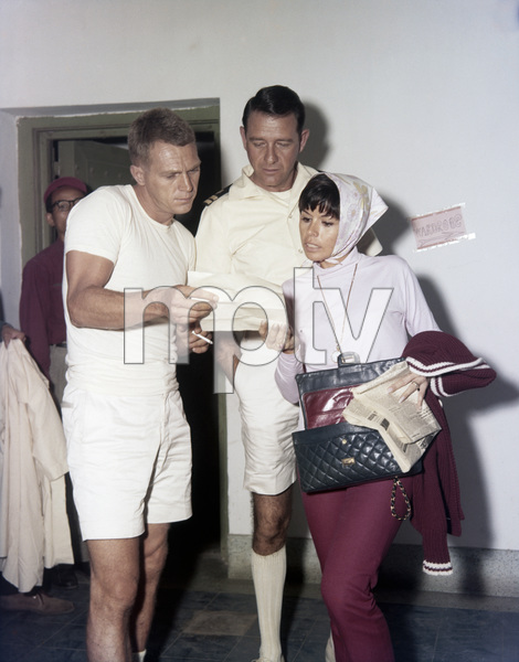 "Steve McQueen, Richard Crenna and Neile Adams on the set of ""The Sand Pebbles""1966 20th Century-Fox** B.D.M. - Image 24293_1128"