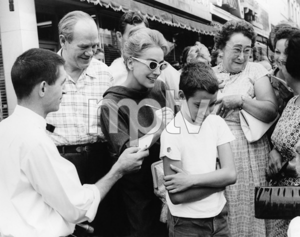 """Joan Crawford signs autographs for fans while filming """"Strait-Jacket"""" on location1964 Columbia** B.D.M. - Image 24293_1198"""