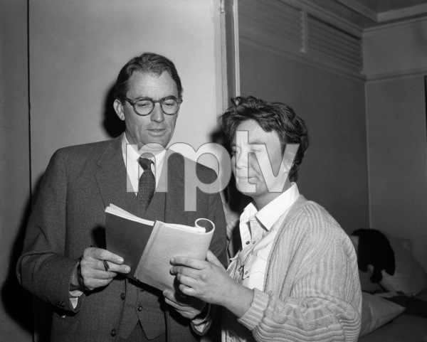"""Gregory Peck and Harper Lee on the set of """"To Kill a Mockingbird""""1962 Universal** B.D.M. - Image 24293_1216"""