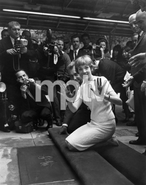 Julie Andrews hand and footprint ceremony at Grauman