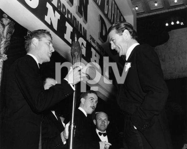 "Frank Goss introduces Gary Cooper at the world premiere of ""Meet John Doe""1940 Warner Bros.** B.D.M. - Image 24293_1384"