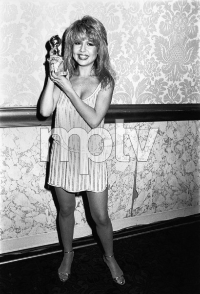 "Pia Zadora with her ""New Star of the Year - Actress"" Golden Globe award 1982** B.D.M. - Image 24293_1694"