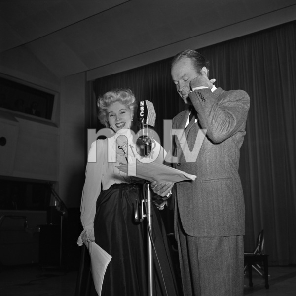 """Zsa Zsa Gabor and Bob Hope on """"The Bob Hope Show"""" radio broadcastcirca early 1950sPhoto by Herb Ball** B.D.M. - Image 24293_1815"""