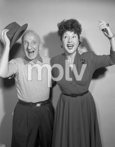 """Jimmy Durante and Ethel Merman on """"The Colgate Comedy Hour""""December 6, 1953Photo by Herb Ball** B.D.M. - Image 24293_1832"""