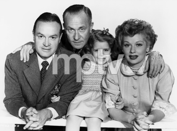 """Bob Hope, William Demarest, Mary Jane Saunders and Lucille Ball in """"Sorrowful Jones""""1949 Paramount** B.D.M. - Image 24293_1948"""