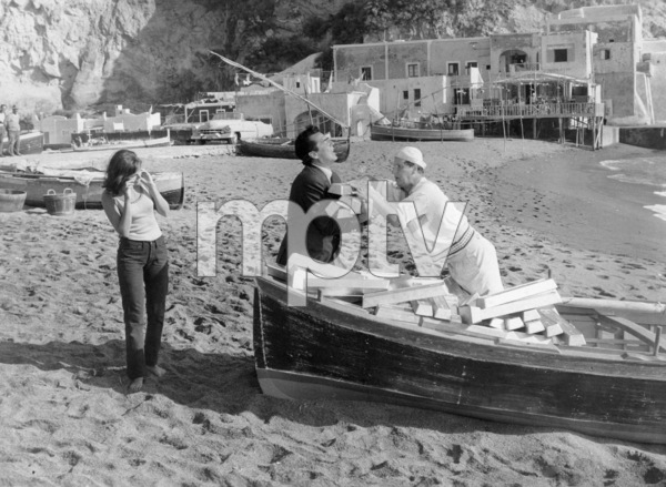 """Britt Ekland and Victor Mature in """"After the Fox""""1966 United Artists** B.D.M. - Image 24293_2535"""