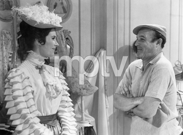 "Marianne McAndrew and director Gene Kelly on the set of ""Hello, Dolly!""1969 20th Century-Fox** B.D.M. - Image 24293_2631"