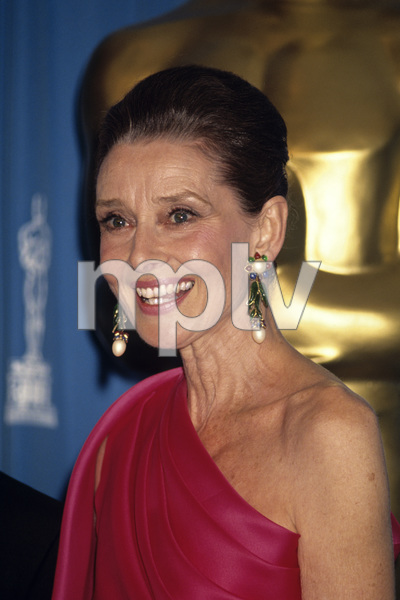 """""""The 64th Annual Academy Awards""""Audrey HepburnMarch 30, 1992© 1992 Gary Lewis - Image 24300_0245"""
