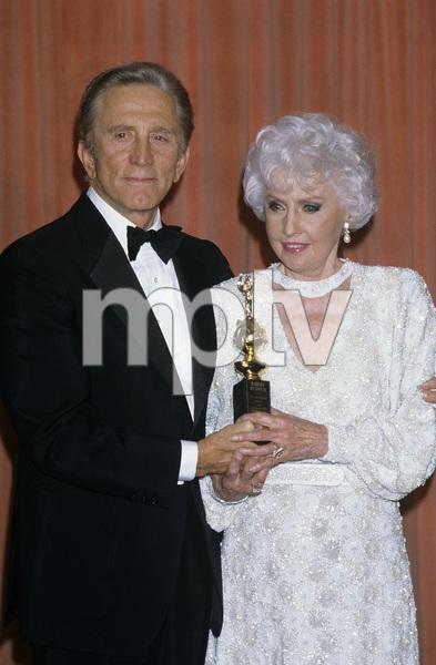 """The 43rd Annual Golden Globe Awards""Kirk Douglas, Barbara StanwyckJanuary 24, 1986© 1986 Gary Lewis - Image 24300_0277"