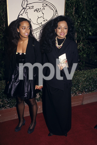 """The 52nd Annual Golden Globe Awards""Diana Ross and her daughter ChudneyJanuary 21, 1995© 1995 Gary Lewis - Image 24300_0338"