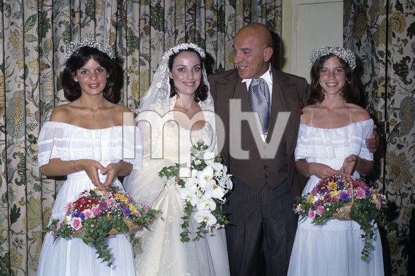 Telly Savalas with his three daughters, Candace, Penelope and Christinacirca 1980s© 1980 Gary Lewis - Image 24300_0517