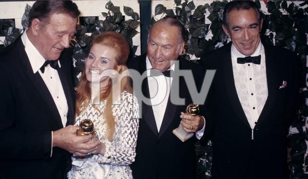 27th Golden Globe AwardsJohn Wayne, Ann-Margret and Anthony QuinnFebruary 2, 1970© 1978 Gary Lewis - Image 24300_0545