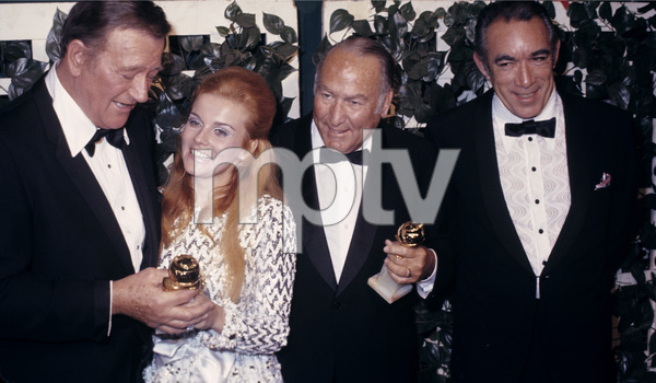 27th Golden Globe AwardsJohn Wayne, Ann-Margret and Anthony QuinnFebruary 2, 1970© 1978 Gary Lewis - Image 24300_0545