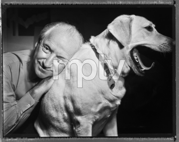 Michael Graves photographed with his dog in Princeton, New