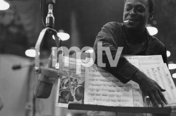 "Miles Davis during the recording session for his album ""Porgy and Bess""1958** I.V.M. - Image 24322_0178"