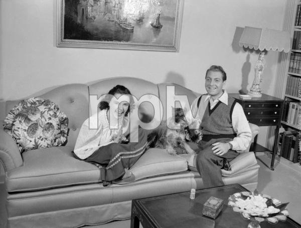Judy Garland and David Rose1941Photo by Eric Carpenter** I.V.C. - Image 24322_0223