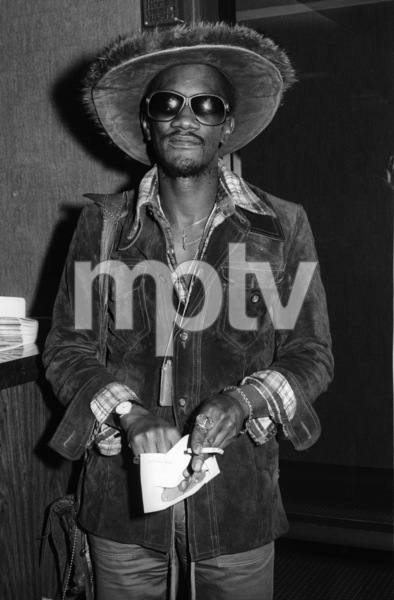 Bernie Worrell backstage at The Philadelphia Spectrum during the  Parliament-Funkadelic Earth Tourcirca mid 1970s© 1978 Bobby Holland - Image 24331_0054