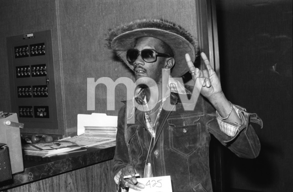 Bernie Worrell backstage at The Philadelphia Spectrum during the  Parliament-Funkadelic Earth Tourcirca mid 1970s© 1978 Bobby Holland - Image 24331_0055