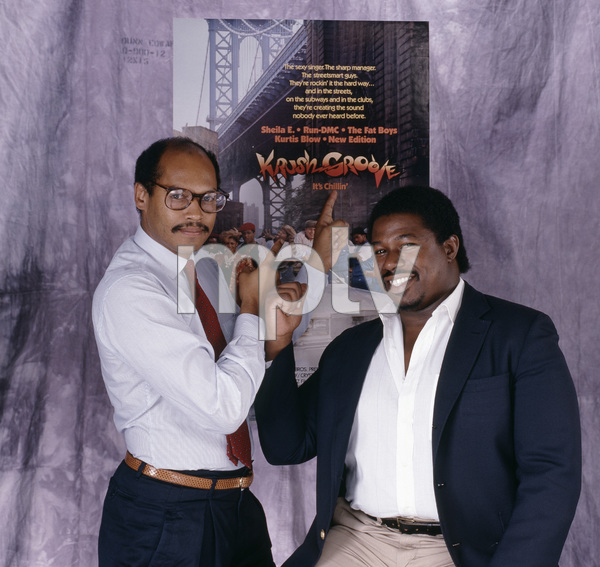 """Krush Groove"" producers George Jackson and Doug McHenry1985© 1985 Bobby Holland - Image 24331_0129"