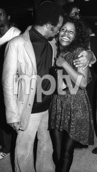 Quincy Jones and Chaka Khan at a listening partycirca 1980s© 1980 Bobby Holland - Image 24331_0151