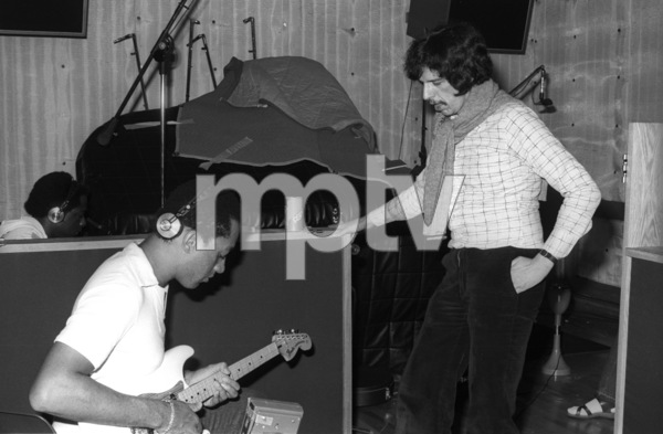 Marlo Henderson and Rod Temperton at Allen Zentz Recording Studios, right at the beginning of laying down tracks for Michael Jackson