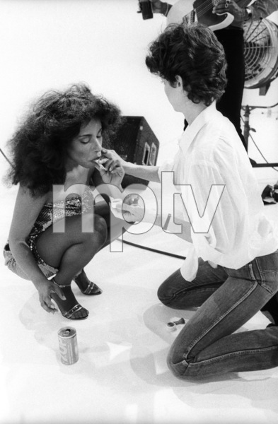 """Rufus and Chaka Khan during the making of two music videos for the album """"Masterjam""""1979© 1979 Bobby Holland - Image 24331_0174"""
