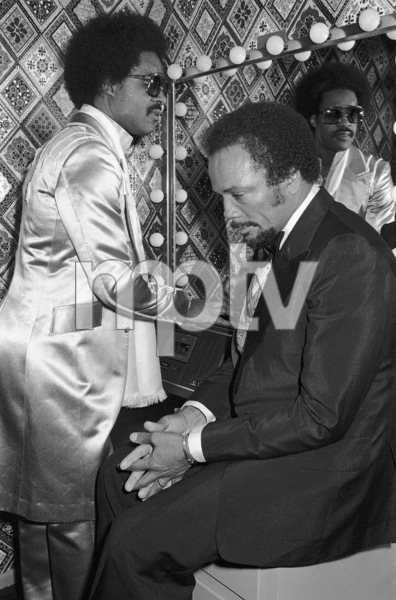 Stevie Wonder and Quincy Jones circa 1970s© 1978 Bobby Holland - Image 24331_0269