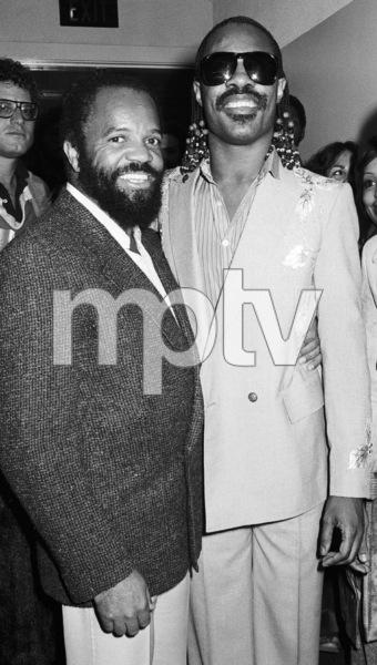 Berry Gordy Jr. and Stevie Wonder circa 1970s© 1978 Bobby Holland - Image 24331_0270