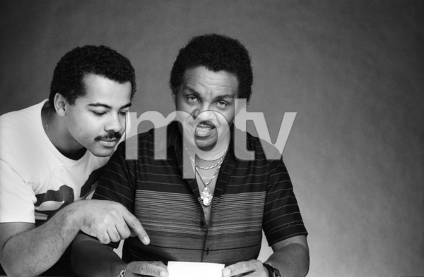 "Joseph Walter ""Joe"" Jackson and photographer Bobby Holland at a photo shootcirca 1980s © 1980 Bobby Holland - Image 24331_0277"