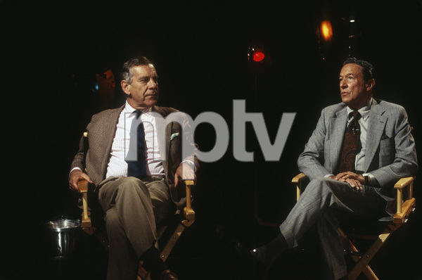 """""""60 Minutes""""Morley Safer, Mike Wallacecirca 1982© 1982 Patrick D. Pagnano - Image 24351_0016"""