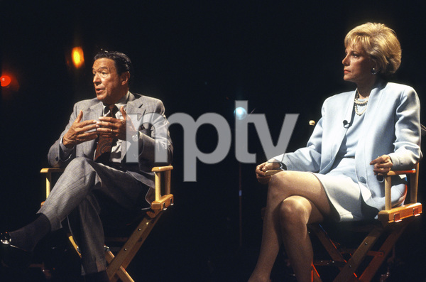 """""""60 Minutes""""Mike Wallace, Lesley Stahlcirca 1993© 1993 Patrick D. Pagnano - Image 24351_0050"""