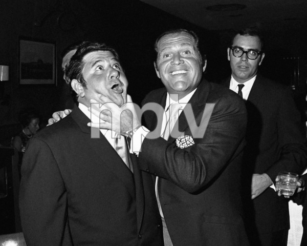 Buddy Hackett and Alan King at a party at the John Peel Room in Westbury, New York1968© 1978 Barry Kramer - Image 24354_0029