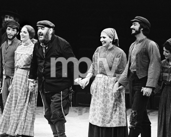 """Zero Mostel receiving a standing ovation for his performance in """"Fiddler on the Roof"""" at the Westbury Music Fair in New York 1971 © 1978 Barry Kramer - Image 24354_0135"""