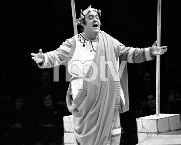 """Zero Mostel performing in """"A Funny Thing Happened on the way to the Forum"""" at Westbury Music Fair in New York 1973© 1978 Barry Kramer - Image 24354_0160"""