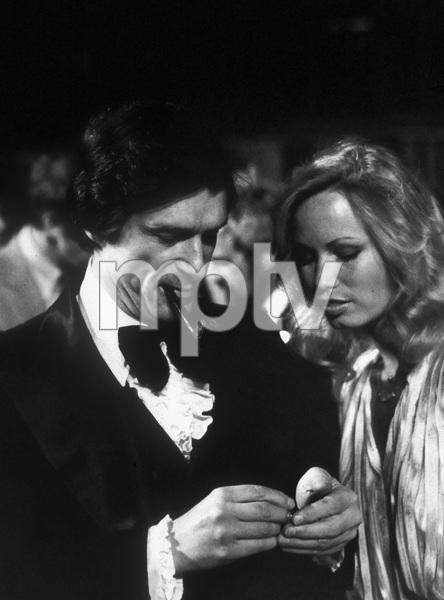 Hugh Hefner and Sondra Theodore at his Holmby Hills mansion 1978© 1978 Steve Banks - Image 24377_0120