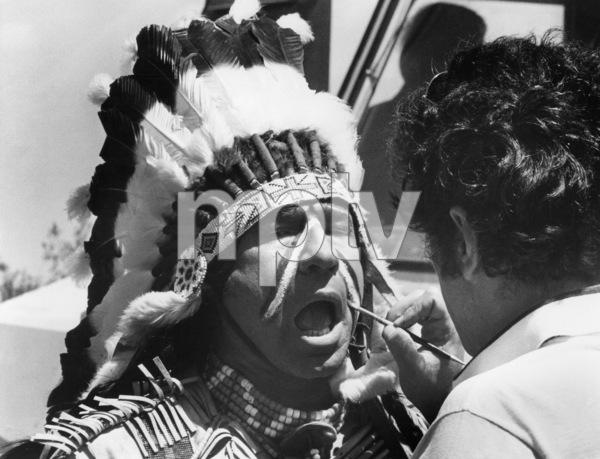 """Mel Brooks during the making of """"Blazing Saddles""""1974** I.V. - Image 24383_0517"""