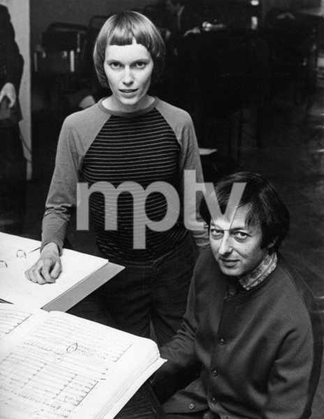 "Mia Farrow and Andre Previn at the rehearsals for the performance of ""Joan of Arc at the Stake""1971** J.C.C. - Image 24385_0076"