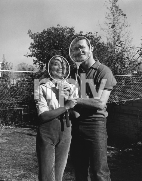 Ty Hardin at his North Hollywood home with wife Andrea Martincirca 1950sPhoto by Joe Shere - Image 2446_0001