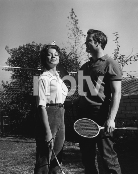 Ty Hardin at his North Hollywood home with wife Andrea Martincirca 1950sPhoto by Joe Shere - Image 2446_0002
