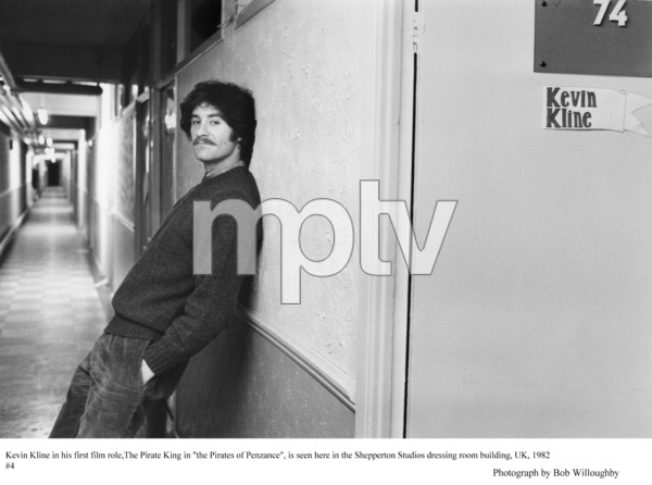 """Kevin Kline outside dressing room""""Pirates of Penzance, The"""" 1982 © 1982 Bob Willoughby - Image 2563_0102"""
